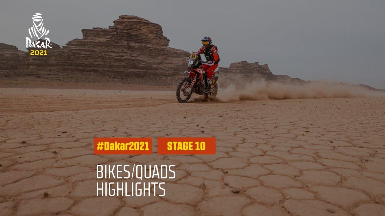 #DAKAR2021 - Stage 10 - Neom / AlUla - Bike/Quad Highlights