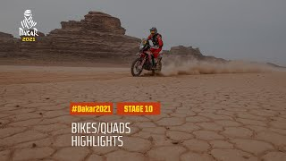 #DAKAR2021 - Stage 10 - Neom / AlUla - Bike/Quad Highlights