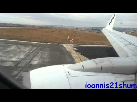Ryanair EPIC takeoff from Thessaloniki Makedonia airport (AMAZING ENGINE SOUND)