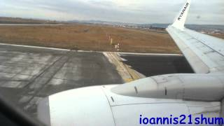 Ryanair EPIC takeoff from Thessaloniki Makedonia airport (AMAZING ENGINE SOUND)(A 70 percent loaded Ryanair 737-800 takes-off from Thessaloniki Makedonia airport, bound to Brussels, on of Ryanair's most successful routes. The weather ..., 2012-03-25T18:04:08.000Z)