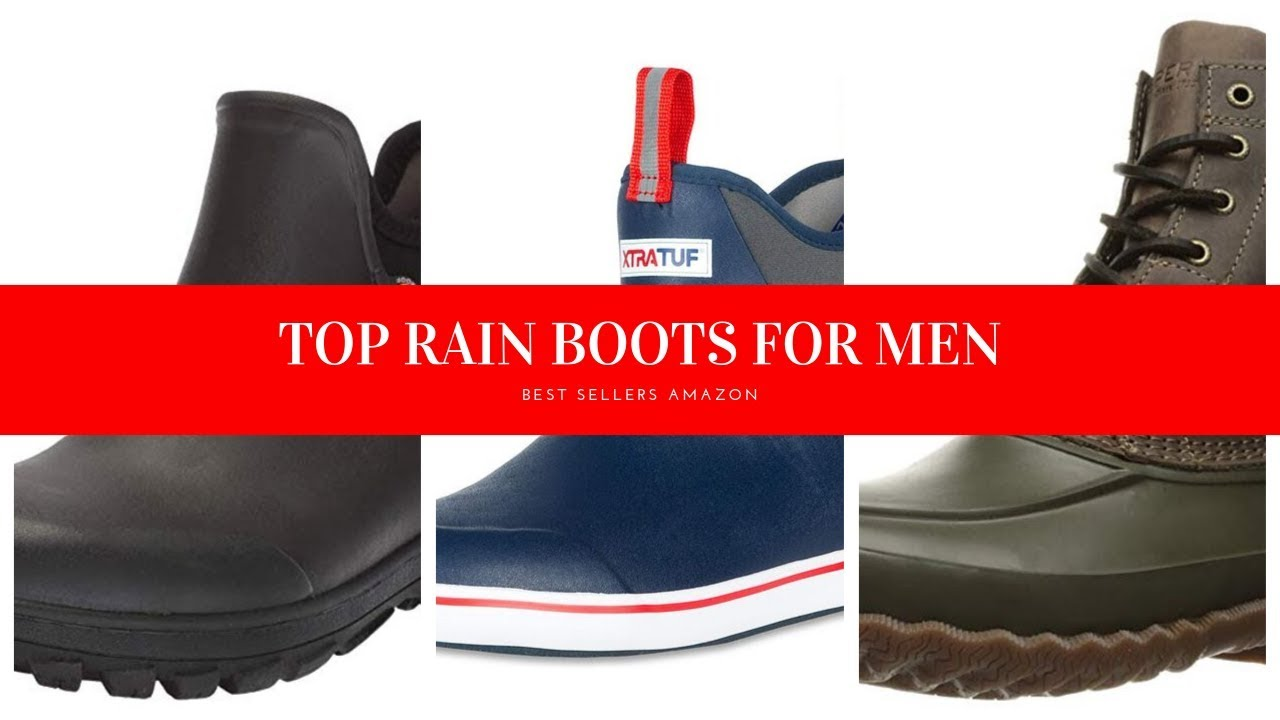 fereshte Mens Short Ankle Rain Boots Outdoor Waterproof Shoes Shoes Rain