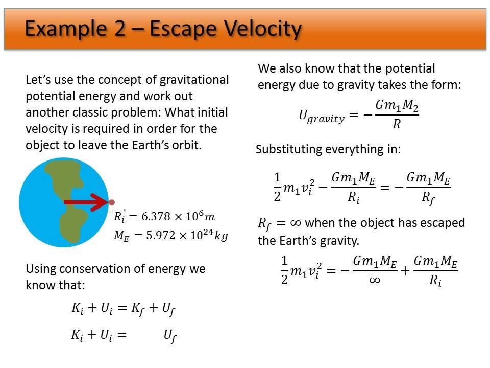 05. Universal Gravity - Example: Escape Velocity - YouTube