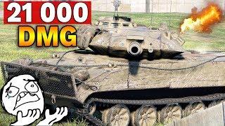 NIESAMOWITA TAKTYKA - 21 000 uszkodzeń po spocie - World of Tanks