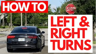 How to Turn Lęft and Right When Driving for Beginner Drivers (Driving Lessons)