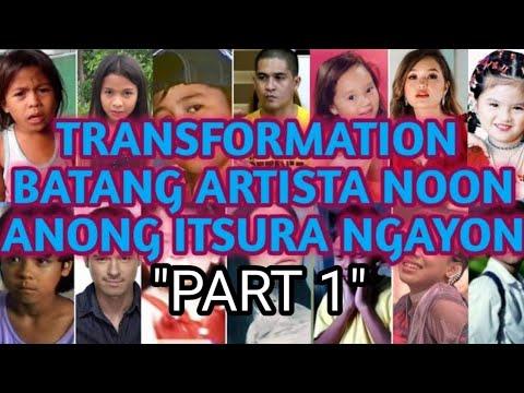 TRANSFORMATION  MGA BATANG ARTISTA NOON ANONG ITSURA NGAYON??
