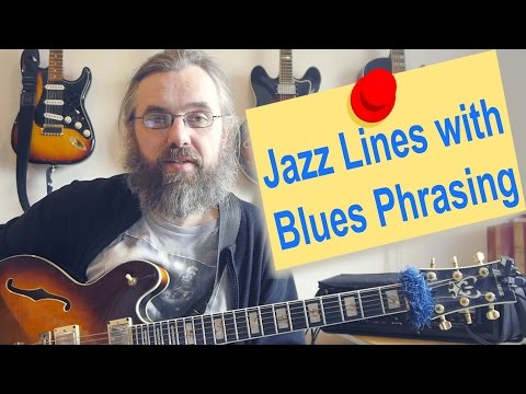 Making Jazz lines sound bluesy