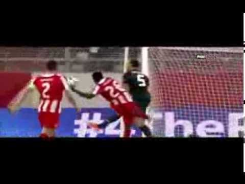 """"""" Joel Campbell """" Olympiacos vs Manchester United 2 0 Super Goal 25 02 2014 [HD]"""
