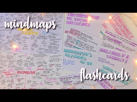 HOW I MAKE MINDMAPS AND FLASHCARDS
