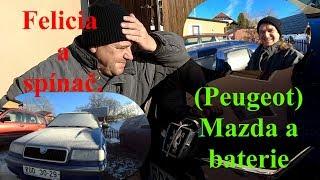 (Peugeot) Mazda a baterie. Felicia a spínač.