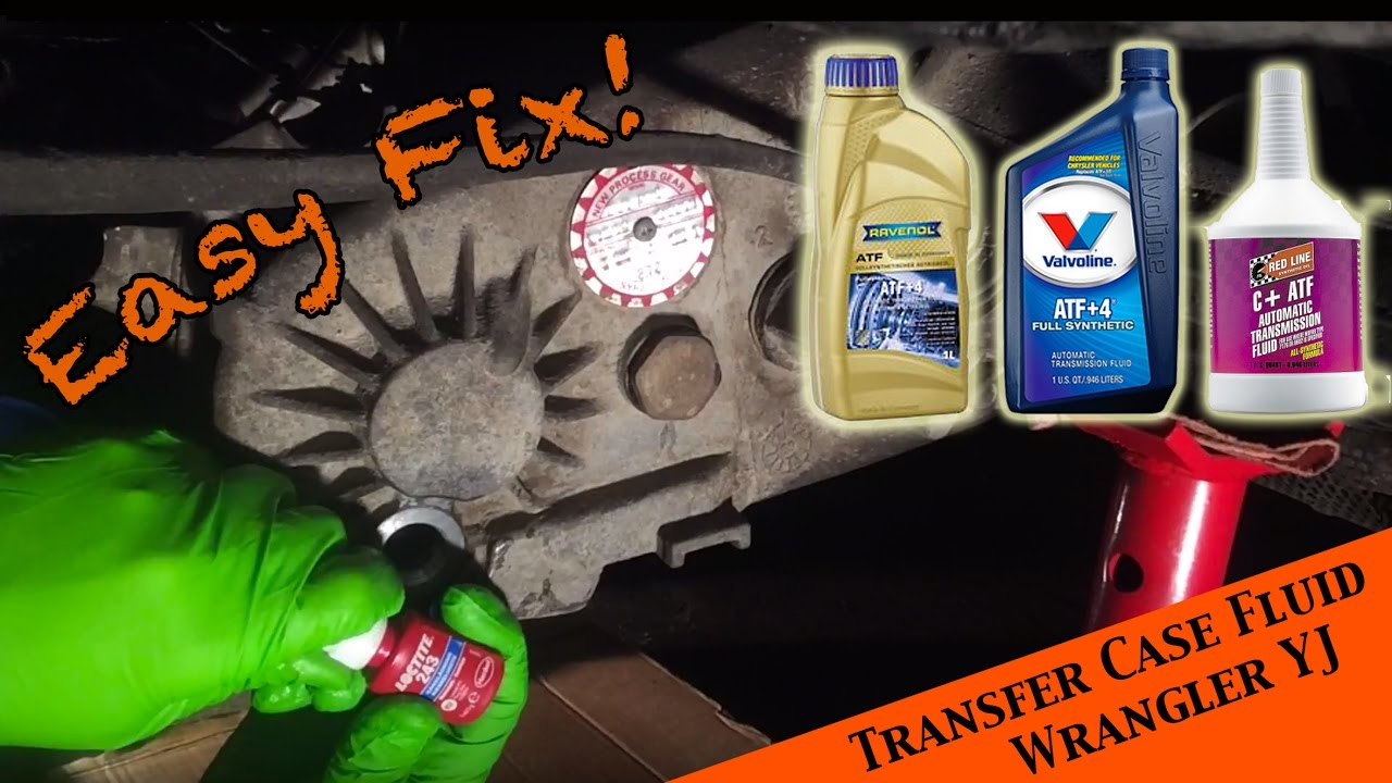 Changing transfer fluid in the NP 231 transfer case - JEEP Wrangler YJ : Ep  16