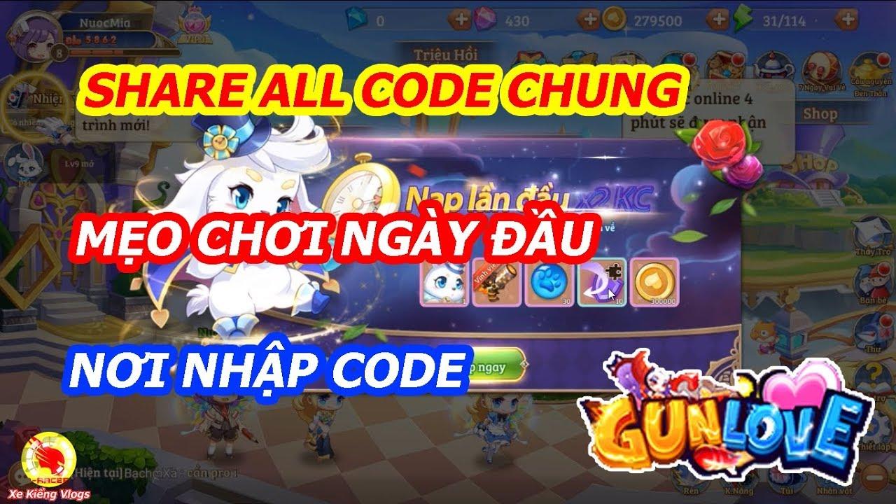 Gun Love 3D : Share Tất Cả Code Chung , Nơi Nhập Code , Mẹo Chơi Ngày Đầu