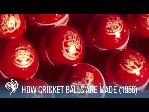 How Cricket Balls Are Made (1956) | British Pathé