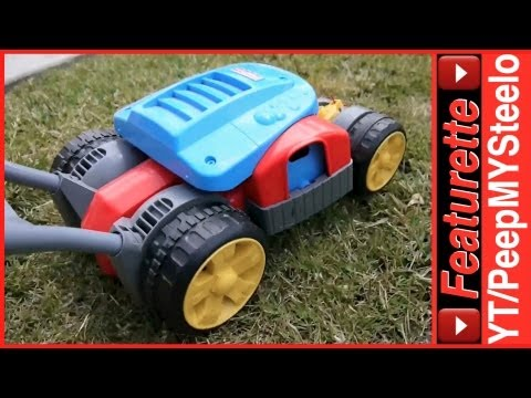 Kids Toy Lawn Mower W/ Motor Sound & Gas Cap To Sound Making Levers / Knob Dials On Push Bar
