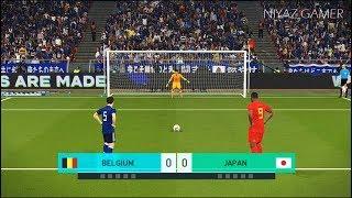 BELGIUM vs JAPAN | Penalty Shootout | PES 2018 Gameplay PC