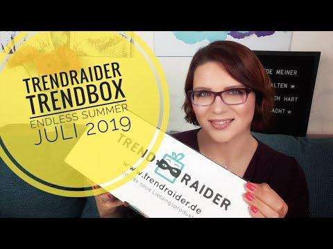 TrendRaider Trendbox Endless Summer | Unboxing Juli 2019 | Knapp 100 EUR Gesamtwert!