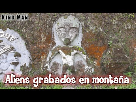 Espectaculares grabados de extraterrestres en montaña de Calarca Colombia