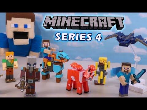 Minecraft Mattel Comic Maker Figures Series 4 Complete Unboxing