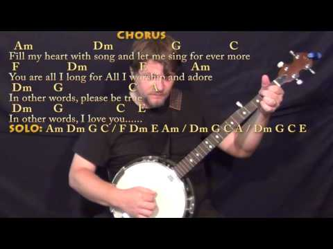 Fly Me To The Moon - Banjo Cover Lesson With Chords/Lyrics