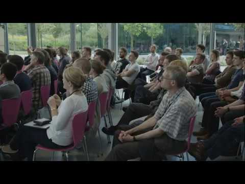 Gravity co-founder Richard Browning talks at Dyson HQ