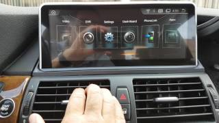installation BMW X5 X6 OEM Fit Android Navigation Multimedia and backup reverse camera