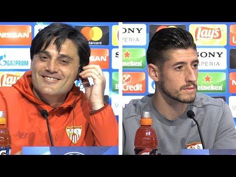 Vincenzo Montella & Sergio Escudero Full Pre-Match Press Conference - Sevilla v Manchester United