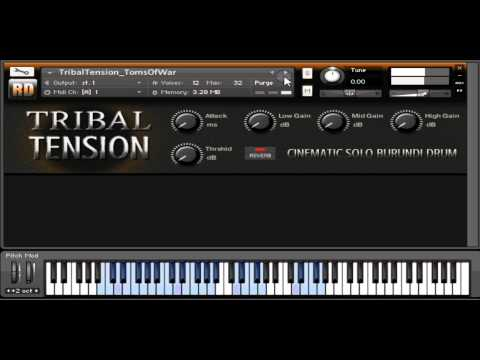 Tribal Tension - a cinematic kontakt instrument