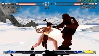 Star Wars Masters of Teras Kasi PS1 (Slave Leia) Part 2 Arcade Mode HD