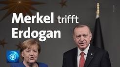 Merkel trifft Erdogan in Istanbul - Gespräch über Flüchtlingshilfen, Libyen und Syrien