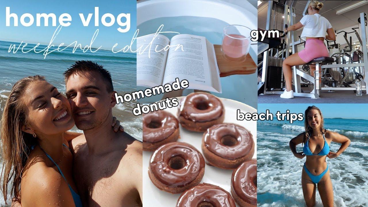 [VLOG] Homemade Donuts, Gym, Beach Trips + Self Care ✨