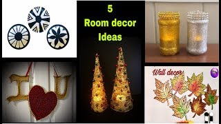 5 Easy room decor | art and craft with waste material | art and craft idea | Amazing pixies