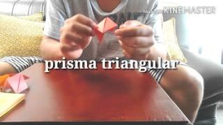 Módulo de sonobe y prisma triangular
