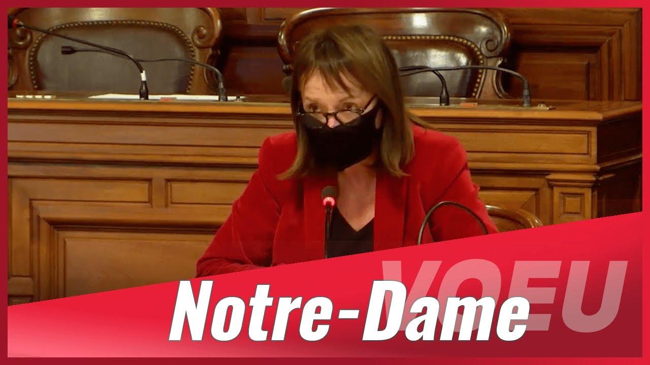 Intervention sur le réaménagement du parvis de Notre-Dame de Paris