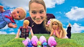Родители для Хетчималс - Смешные видео с Барби и Кеном для девочек.