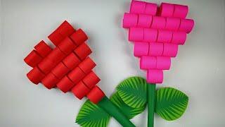 Heart Shape Paper Craft Wall Hanging | DIY Paper Heart Wall Decor | Paper Craft Ideas | Heart Craft