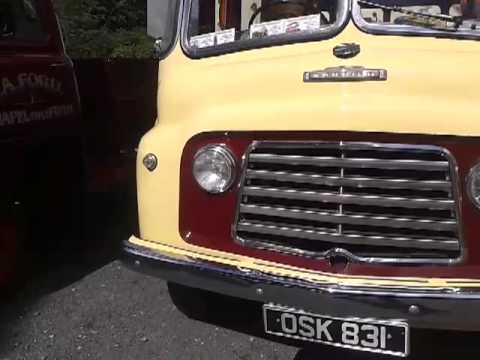 Vintage bus and morgan at raby castle car show