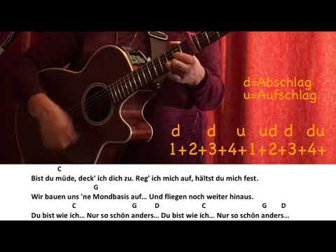 So schön anders-Adel Tawil / Gitarre/Guitar/Tutorial/Cover/Akkorde/Chords/Text/Lyrics/easy