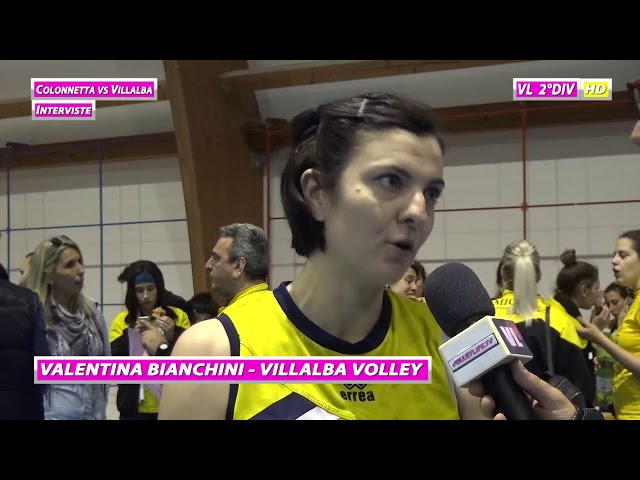 Colonnetta vs Villalba - Interviste