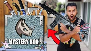 Someone Sent Me a 200+ LBS Box Of DANGEROUS MYSTERY WEAPONS!! ELITE OP KNIVES EDITION!!