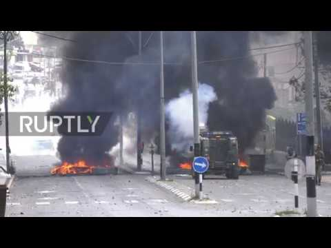 State of Palestine: Israeli forces tear gas protesters in Bethlehem on Nakba Day