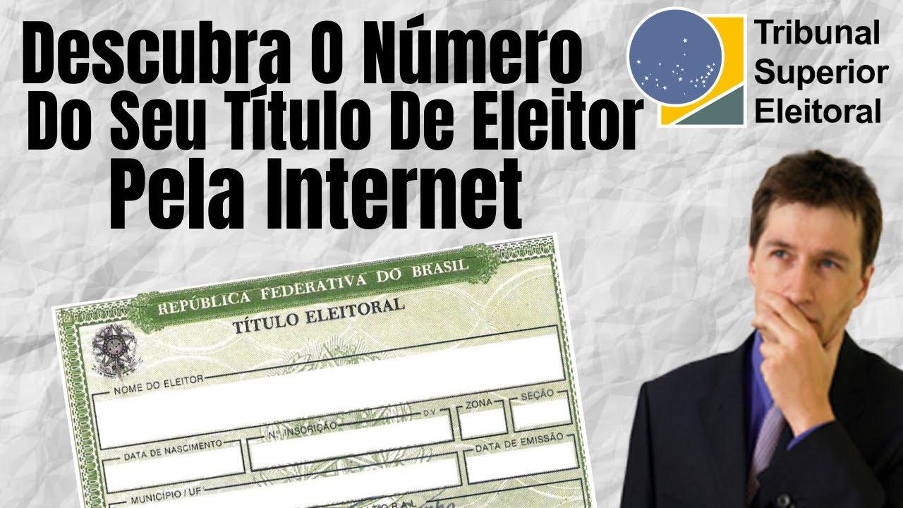 COMO Descobrir o Numero Do Titulo de eleitor E O Local De Votação Pela Internet