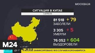 В Китае за минувшую ночь коронавирусом заразились менее 100 человек - Москва 24
