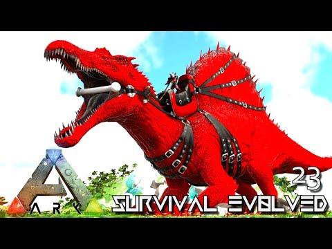 ARK: SURVIVAL EVOLVED: ALPHA SPINO TAMING & CHIEFTAIN BOSS E23 !!! ( ARK EXTINCTION CORE MODDED )