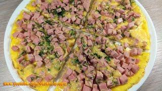 Идея для Завтрака или Перекуса нежный ОМЛЕТ с колбасой и сыром