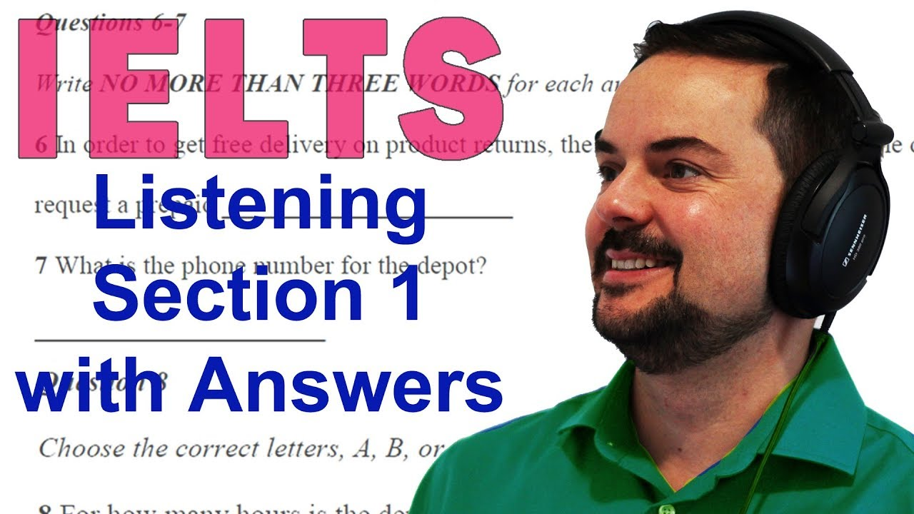 IELTS Listening Section 1 Free Practice Sample Test - YouTube