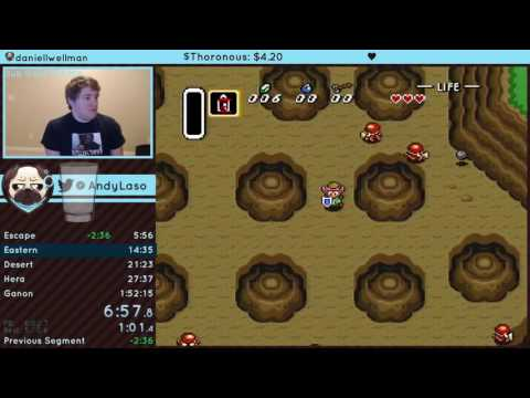 The Legend of Zelda: A Link to the Past Low% OHKO speedrun in 1:44:50 RTA