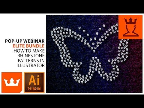 How to Make Rhinestone Patterns in Illustrator   Webinar