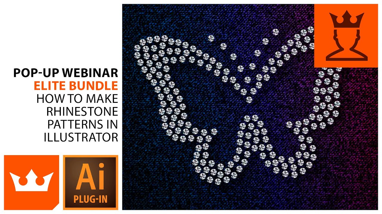 How To Make Rhinestone Patterns In Illustrator Webinar YouTube - How to make rhinestone templates