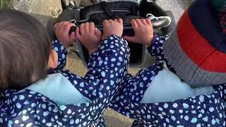 놀이터에서 집까지 유모차 끌고가는 두살둥이들| 독일일상…