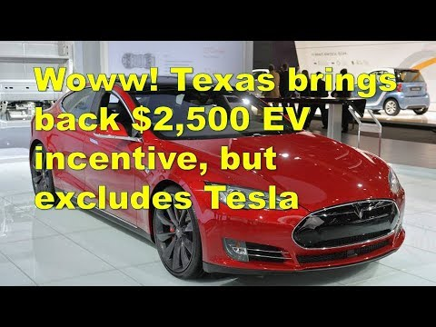 Woww! Texas brings back $2,500 EV incentive, but excludes Tesla