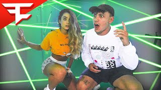 Don't Touch The Laser Win $10,000 (Sommer Ray vs FaZe Clan)